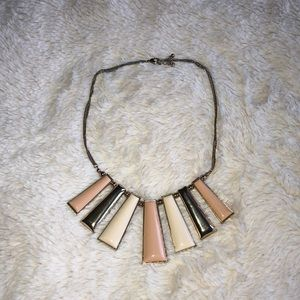 Jewelry - White,gold and blush accent necklace